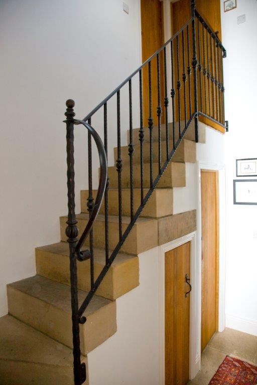 Stone stairs to the bedroom