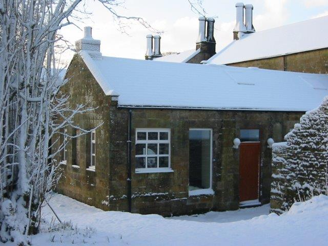 Keepers Cottage near Hadrian's Wall view in the snow